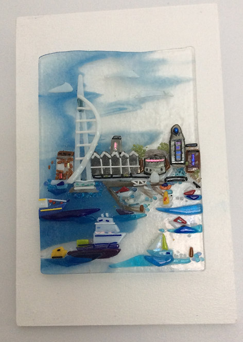 Fused Glass Spinnaker Tower Picture