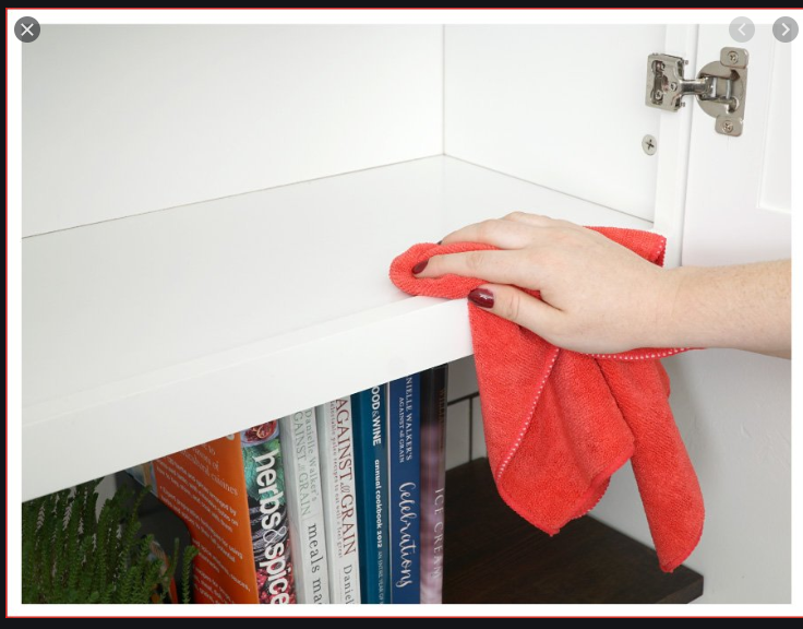 Cleaning Interior of cabinets