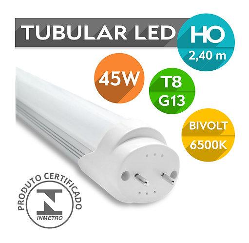 Lâmpada LED Tubular T8 HO G13 45W 240cm  Bivolt   Branco Frio