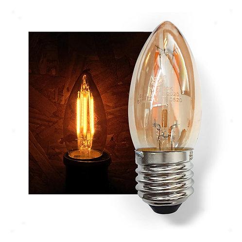 Lâmpada Vela LED Filamento Retrô Vintage 4G 3,2W E27 Bivolt 2300K