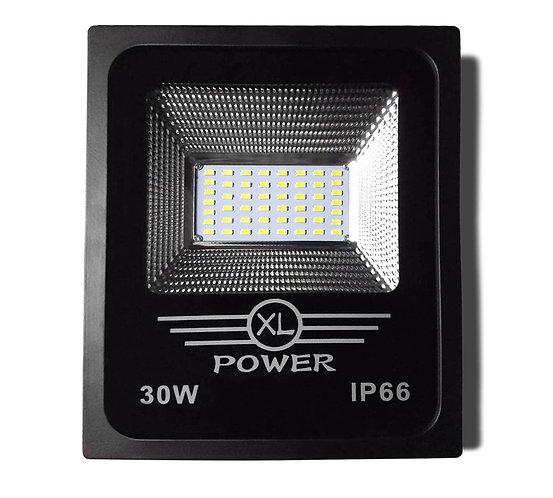 Refletor LED SMD Preto 30W Bivolt Branco Frio - Linha Expert
