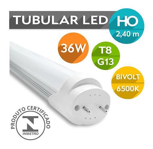 Lâmpada LED Tubular T8 HO G13 36W 240cm  Bivolt | Branco Frio