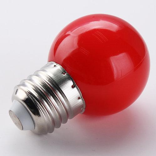 Lâmpada Led Bolinha 3W BIVOLT E27 Cor Vermelha