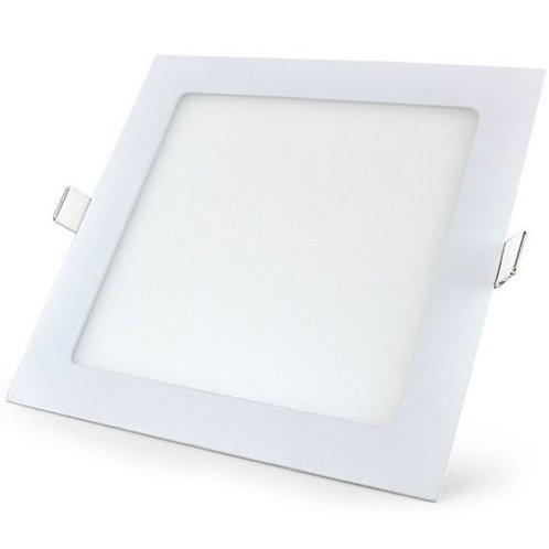 Luminária Painel Led de Embutir 20W Quadrado Slim Branco Quente