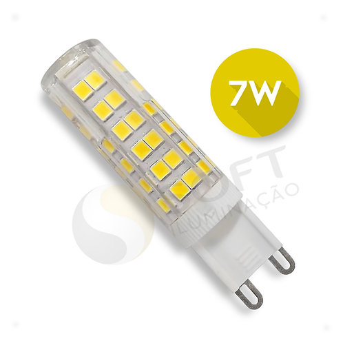 Lâmpada Led Halopin Bipino G9 7W Bivolt Luz Branca Quente