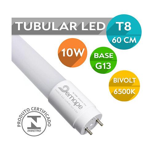 Lâmpada Led Tubular T8 G13 10W 60cm   Vidro   Bivolt   Branco Frio - Energy Led