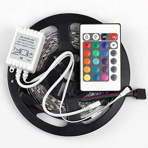 FITA LED 5050 IP20 12V/60W - Rolo 5m (300 leds) - RGB - (S/ Controle)