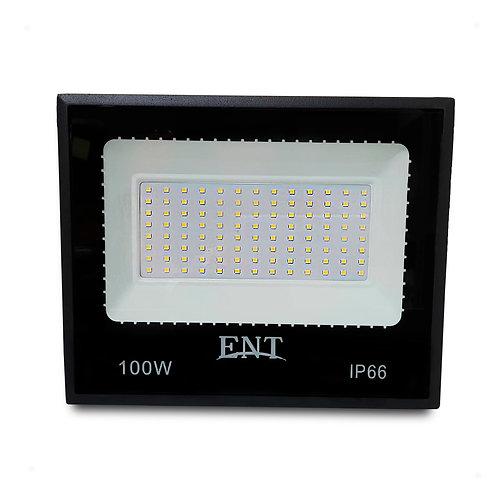 Refletor Holofote 100W Micro LED SMD SLIM Bivolt IP66 Luz Branca Fria / 6500K