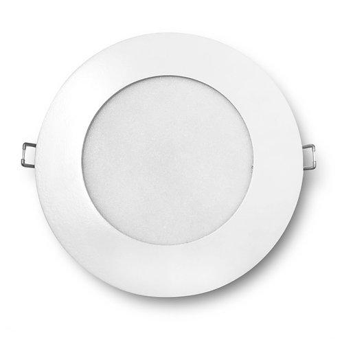 Luminária Led de Embutir 16W Downlight Redonda Slim Branco Quente
