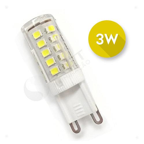 Lâmpada Led Halopin Bipino G9 3W 110V Luz Branca Quente