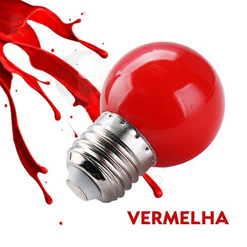 Lâmpada Led Bolinha 1W 220V E27 Cor Vermelha