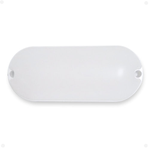 Luminária Arandela Tartaruga LED Oval Sobrepor 7W Bivolt Branca Fria
