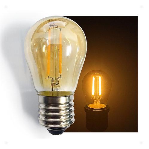 Lâmpada LED Bolinha Filamento Retrô Vintage 4G 3,2W E27 Bivolt 2300K