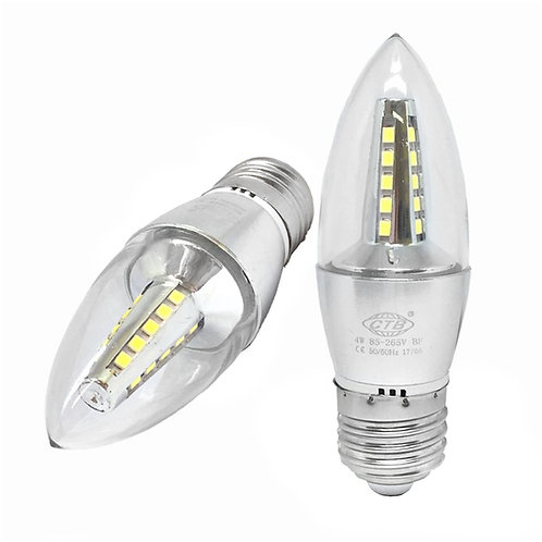 Lâmpada Vela Led 4W Lisa Clara E27 Branco Frio/Quente