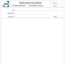 Work System Description