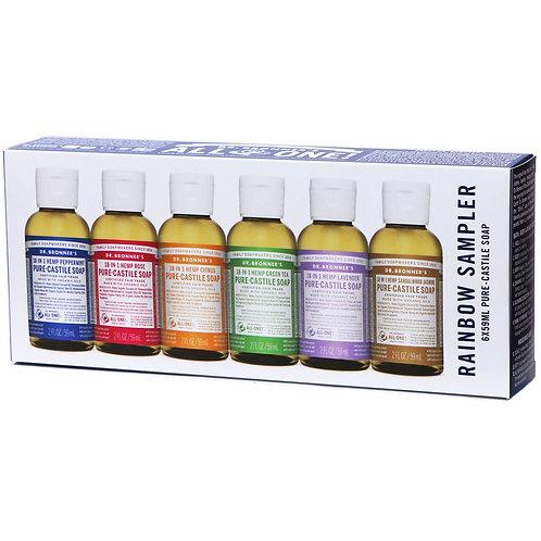 Dr. Bronner's Pure-Castile Liquid Soap - Rainbow Sampler