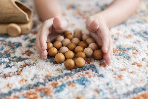 2 Tone Wooden Balls - Set of 50