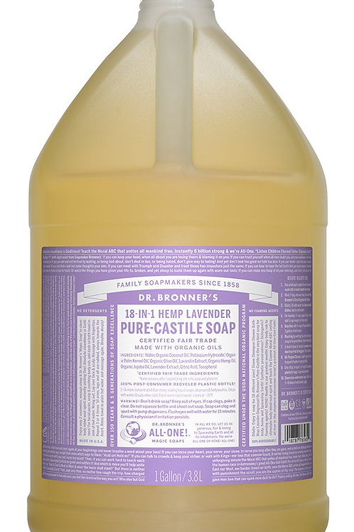 Dr Bronner's Bulk Pure Castile Liquid Soap 3.78litre