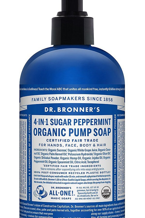 Dr Bronner's Organic Pump Soap 355ml