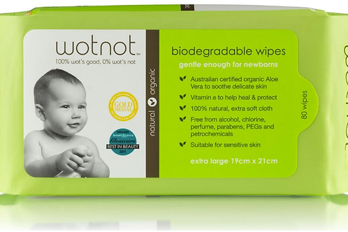 Wotnot Baby Biodegradable 100% Natural Baby Wipes