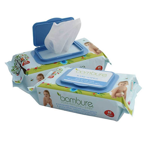 Bambure Baby Wipes Natural Pack
