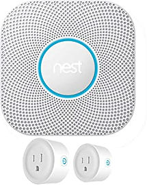 NEST PROTECT 2nd GENERATION SENSOR with 2 Smart Plugs