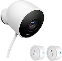 NEST Cam Outdoor Security Camera_with 2 smart plugs