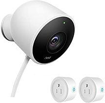 NEST Cam Outdoor Security Camera_with 2 smart plugs