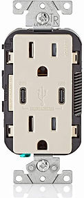 LEVITON t5635 t dUAL pOWER_iN WALL CHARG