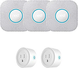NEST PROTECT SMOKE AND CO ALARM Bundle with 2 Smart Plugs