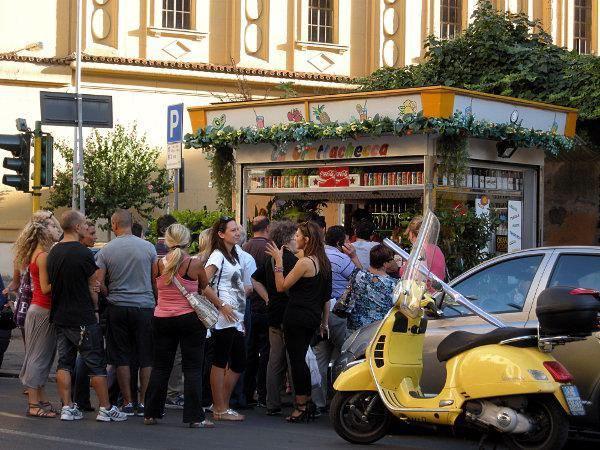 Grattachecca Stand in Rome
