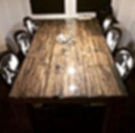 Stół railway, krzesła mustang