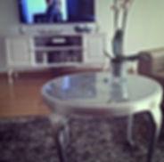 stolik srebrny chippendale