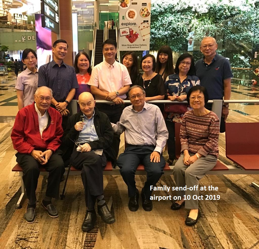 Family send-off on 10 Oct 2019