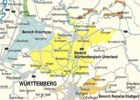 Weinanbaugebiet Württemberg