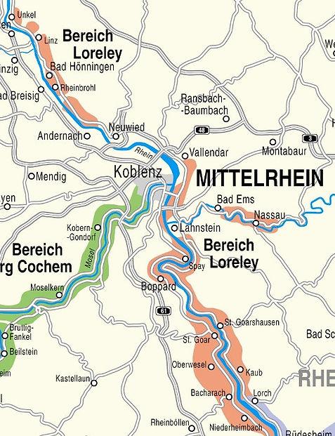 Weinanbaugebiet Mittelrhein