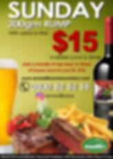 $15 Steak Night Sundays