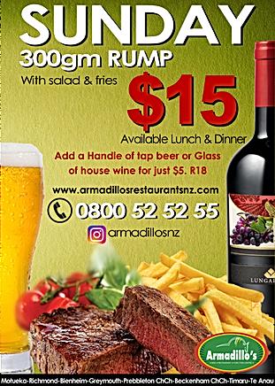 Sunday $15 Steak
