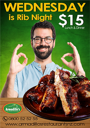 Wednesday $15 Ribs
