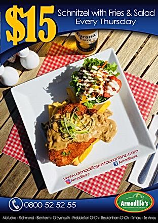 Thursday $15 Schnitzel