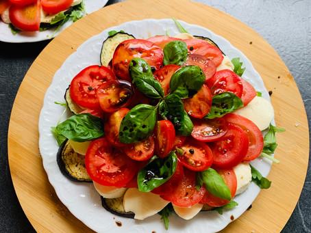 Caprese ala Foodpunk mit gegrillter Aubergine