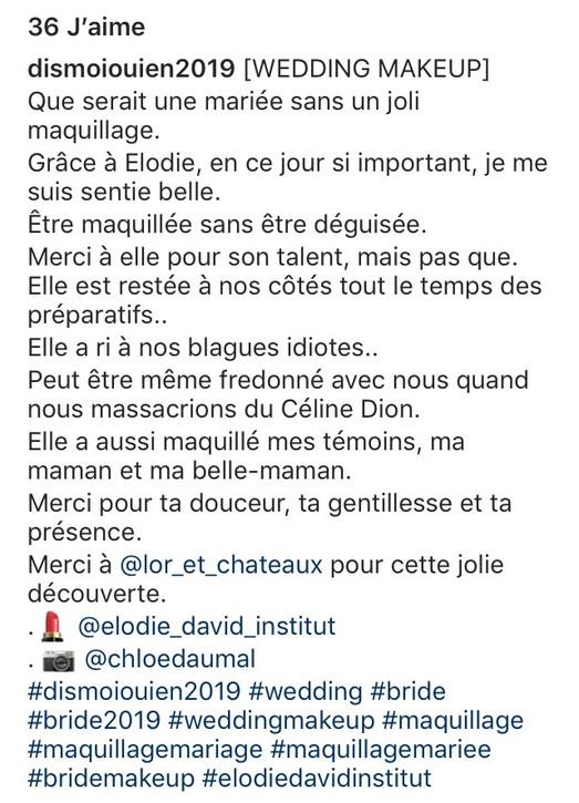 Mariage de Rivaulde instagram