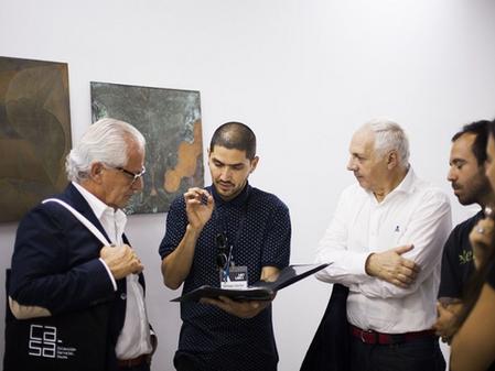Santiago Cancino (Chile), ganador Premio Ca.Sa / ArtLima 2017.