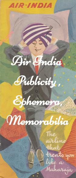 AIR-INDIA PUBLICITY EPHEMERA MEMORABILIA AIRLINE PHOTOGRAPHS