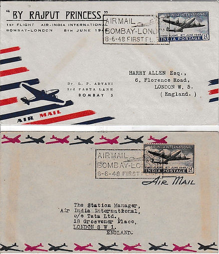 AIR INDIA 8TH JUNE 1948 RAJPUT LONDON.jp
