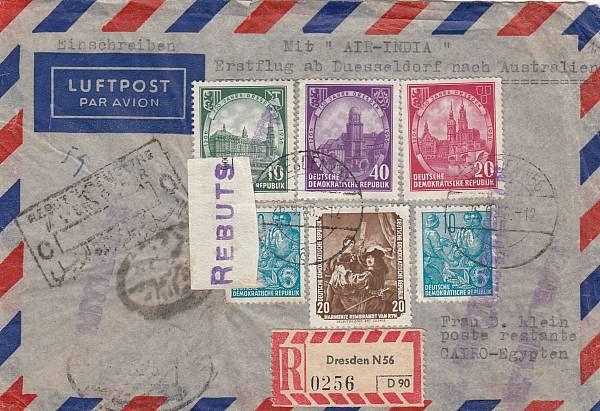26.09.1956 DUSSELDORF-CAIRO VIA AUSTRALI