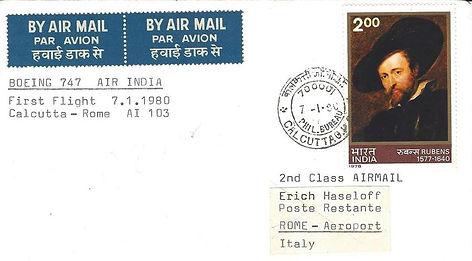 Calcutta-Rome- New York Sector 07 Jan 19