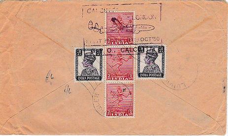 AIR INDIA_17TH OCT 1950 CALCUTTA LONDON