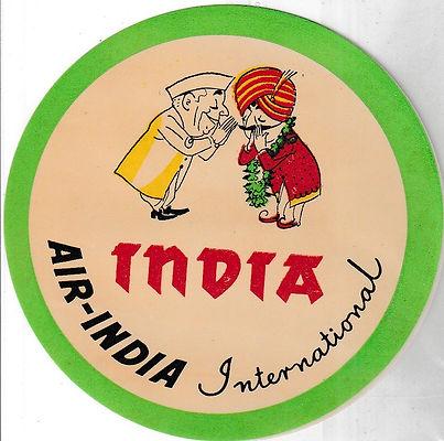 AIR INDIA LUGGAGE LABEL_INDIA