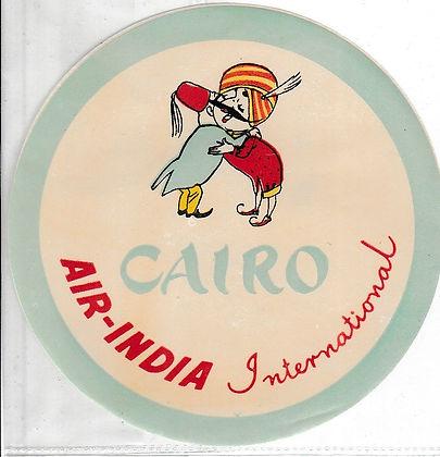 AIR INDIA LUGGAGE LABEL_CAIRO